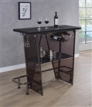 Black Contemporary Bar Unit by Coaster - 182050