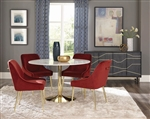 Steele 5 Piece Dining Set in Gold Finish by Scott Living - 190421-R