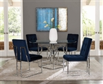 Mischa 5 Piece Dining Set in Silver Finish by Scott Living - 190701