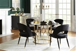Lindsey 5 Piece Round Dining Set in Sunny Gold Finish by Coaster - 192071
