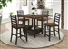 Sanford 5 Piece Counter Height Dining Set in Cinnamon and Espresso Finish by Coaster - 192728