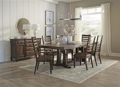 Avenue Rectangular Table 5 Piece Dining Set in Weathered Burnished Brown Finish by Coaster - 192741