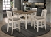 Sarasota 5 Piece Counter Height Dining Set in Nutmeg and Rustic Cream Finish by Coaster - 192818