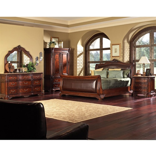 Newcastle Cherry Finish 6 Piece Bedroom Set By Coaster 200141
