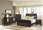Camellia 6 Piece Bedroom Set in Cappuccino Finish by Coaster - 200361