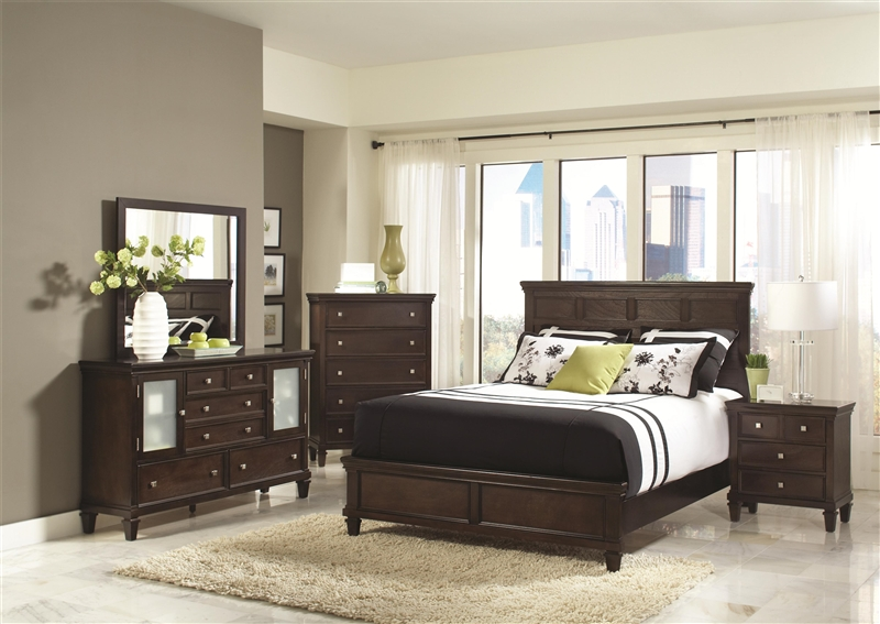 6 Piece Bedroom Set in Cappuccino Finish by Coaster - 200361