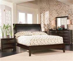 Phoenix Platform Bed 6 Piece Bedroom Set in Rich Deep Cappuccino Finish by Coaster - 200410