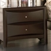 Phoenix 2 Drawer Nightstand in Rich Deep Cappuccino Finish by Coaster - 200412