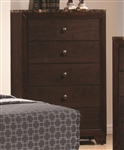 Conner Chest in Dark Walnut Finish with Faux Marble Top by Coaster - 200425