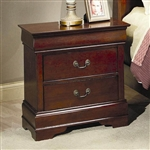 Louis Philippe Nightstand in Cherry Finish by Coaster - 200432