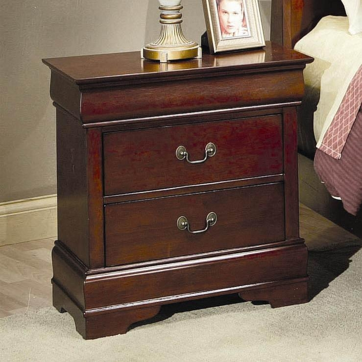 Philippe Nightstand in Cherry Finish by Coaster