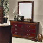Louis Philippe Dresser in Cherry Finish by Coaster - 200433