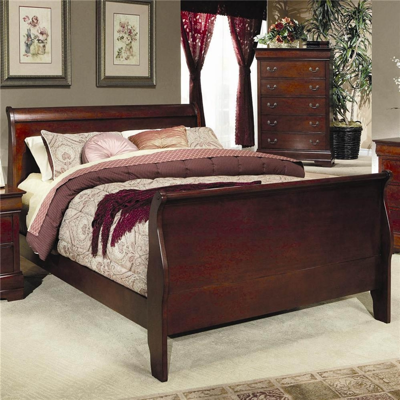 Ashley Ledelle Furniture By Bedroom S Louis Philippe Dresser In Cherry Finish Coaster 200433