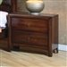 Hillary 2 Drawer Nightstand in Warm Brown Finish by Coaster - 200642