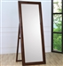 Hillary Standing Floor Mirror in Warm Brown Finish by Coaster - 200647