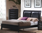 Briana Bed in Black Finish by Coaster - 200701Q