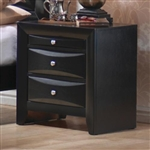 Briana Nightstand in Black Finish by Coaster - 200702