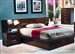 Jessica Platform Bed with Side Panels & Nightstands in Cappuccino Finish by Coaster - 200711QBP