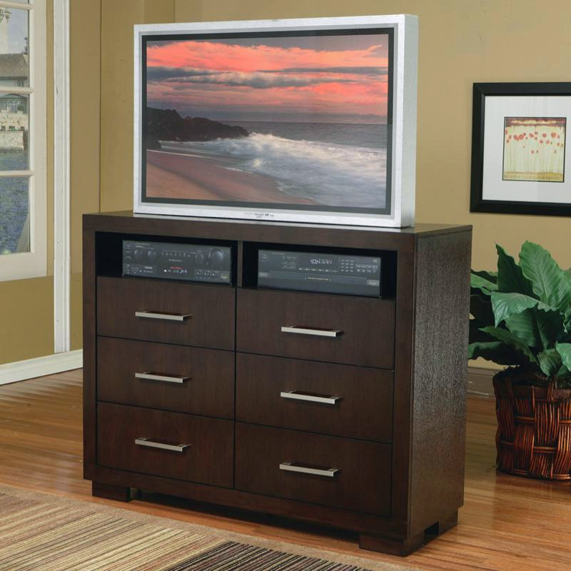 huge discount 44ca8 0d3f8 Jessica Media Chest in Cappuccino Finish by Coaster - 200716