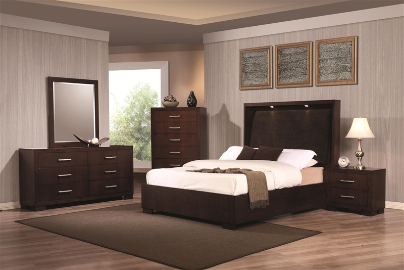 6 Piece Bedroom Set in Cappuccino Finish by Coaster - 200720
