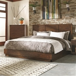 Avery Platform Bed in Aged Bourbon Finish by Coaster - 200981Q