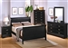 Louis Philippe 6 Piece Bedroom Set in Black Finish by Coaster - 201071