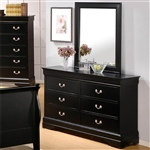 Louis Philippe Dresser in Black Finish by Coaster - 201073