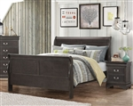 Hershel Louis Philippe Bed in Dark Grey Finish by Coaster - 201131Q