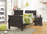 Hershel Louis Philippe Youth Bedroom Set in Dark Grey Finish by Coaster - 201131T