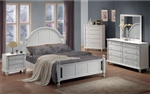 Kayla 4 Piece Youth Bedroom Set in White Finish by Coaster - 201181F