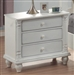 Kayla Nightstand in White Finish by Coaster - 201182
