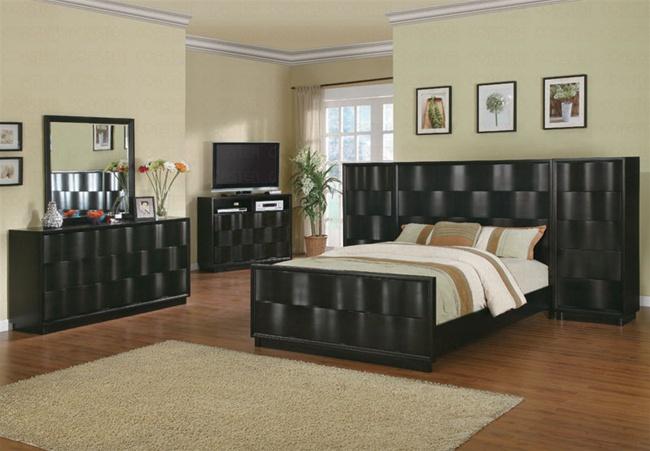 7 Piece Wave Bedroom Set With High Boy