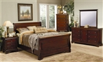 Versailles 6 Piece Bedroom Set in Deep Mahogany Finish by Coaster - 201481