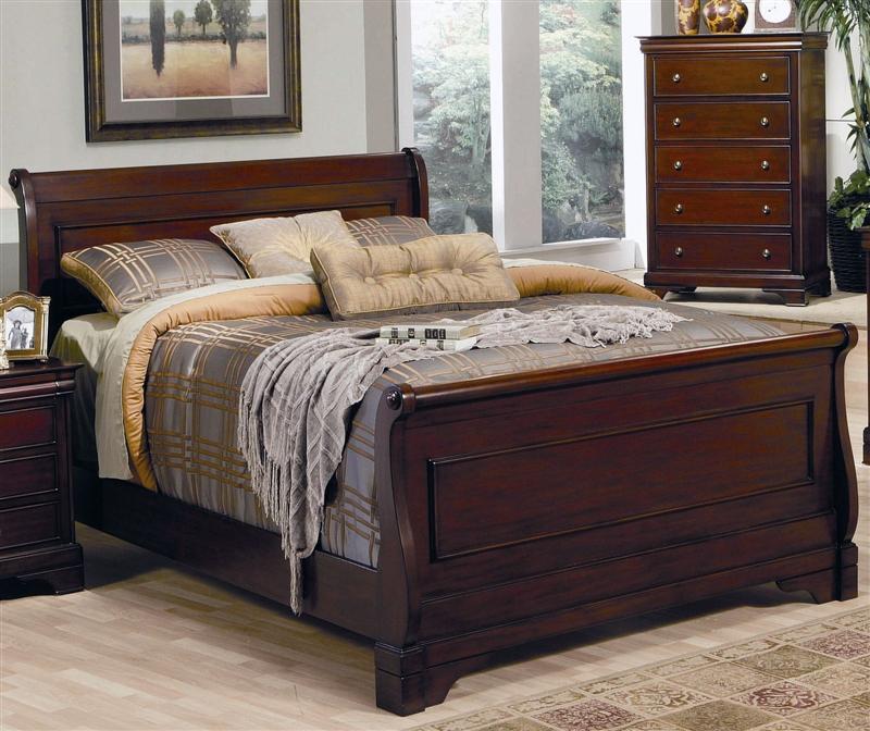 Versailles 6 Piece Bedroom Set in Deep Mahogany Finish by Coaster ...