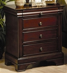 Versailles Nightstand in Deep Mahogany Finish by Coaster - 201482