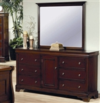 Versailles Dresser in Deep Mahogany Finish by Coaster - 201483