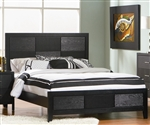 Grove Panel Bed in Black Finish by Coaster - 201651Q