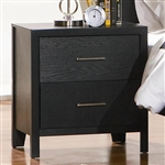 Grove Nightstand in Black Finish by Coaster - 201652