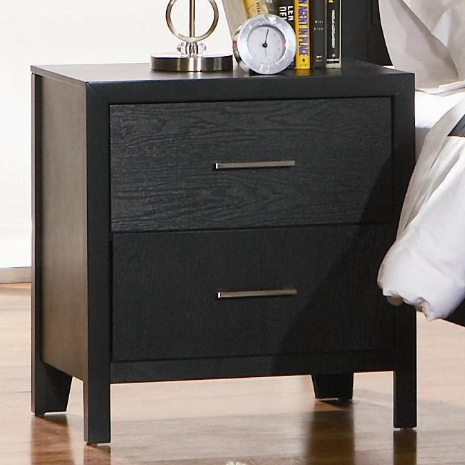 Grove Nightstand In Black Finish By Coaster 201652