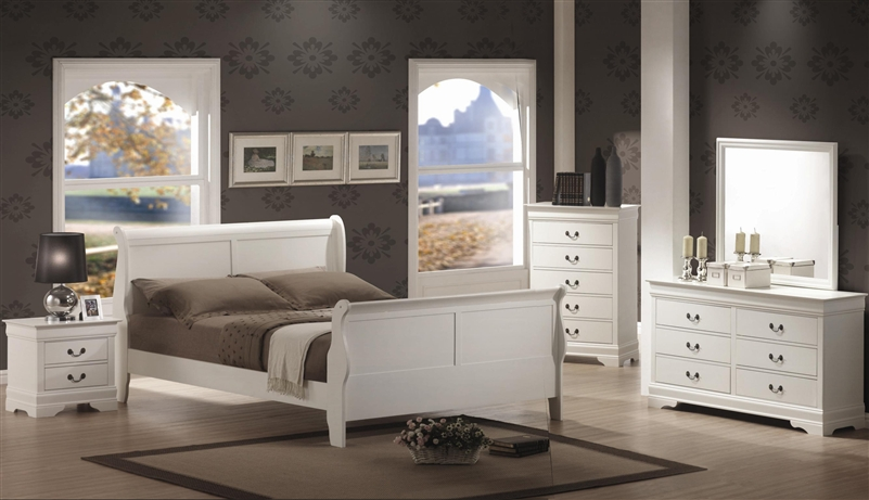 Philippe 6 Piece Bedroom Set in White Finish by Coaster - 204691