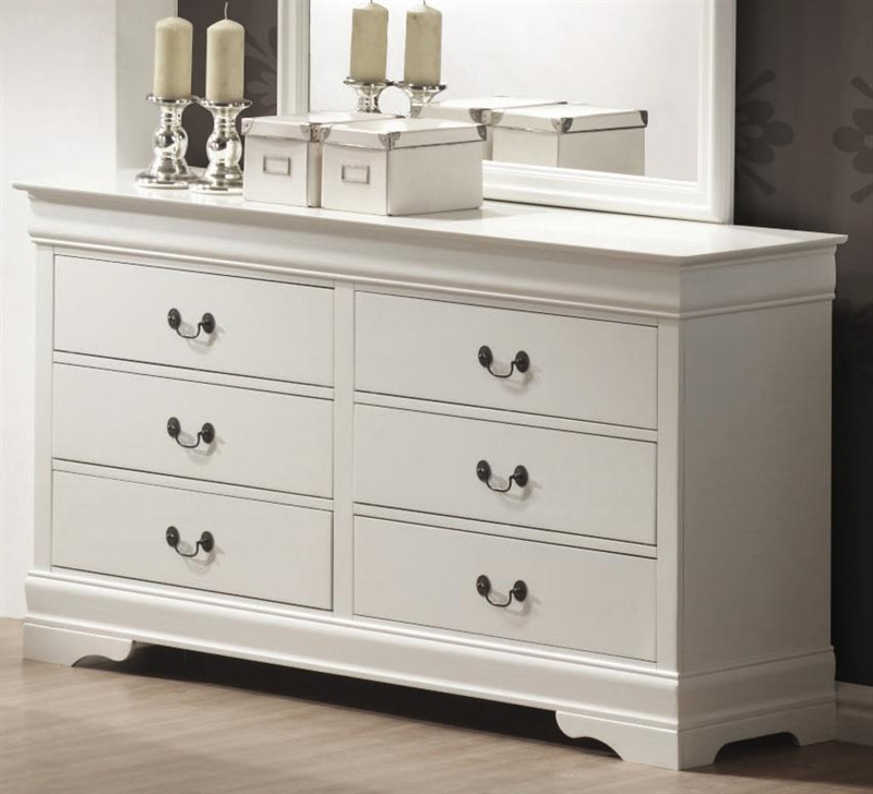 Louis Philippe Dresser In White Finish