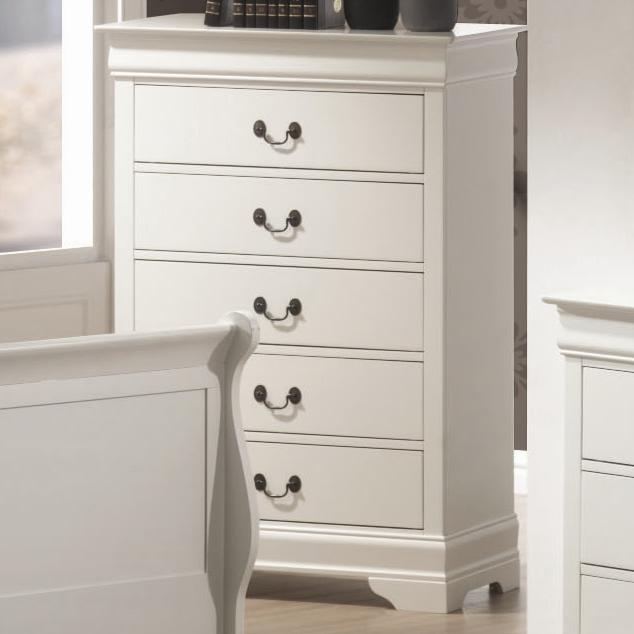 Louis Philippe Chest In White Finish By