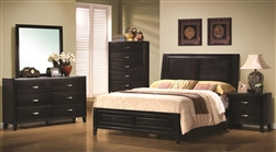 Nacey 6 Piece Bedroom Set in Dark Brown Finish by Coaster - 201961