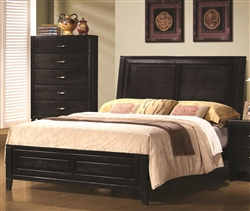 Nacey Bed in Dark Brown Finish by Coaster - 201961Q