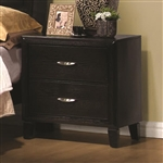Nacey Nightstand in Dark Brown Finish by Coaster - 201962