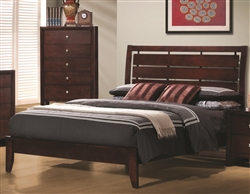Serenity Bed in Rich Merlot Finish by Coaster - 201971Q