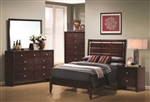 Serenity 4 Piece Youth Bedroom Set in Rich Merlot Finish by Coaster - 201971T