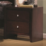 Serenity Nightstand in Rich Merlot Finish by Coaster - 201972