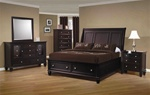 Sandy Beach Storage Bed 6 Piece Bedroom Set in Cappuccino Finish by Coaster - 201990