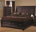 Sandy Beach Storage Bed in Cappuccino Finish by Coaster - 201990Q